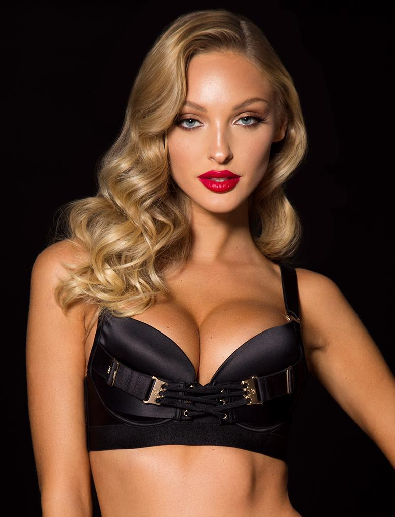 Kimmy Black Push Up Bra - Shop Lingerie | Honey Birdette