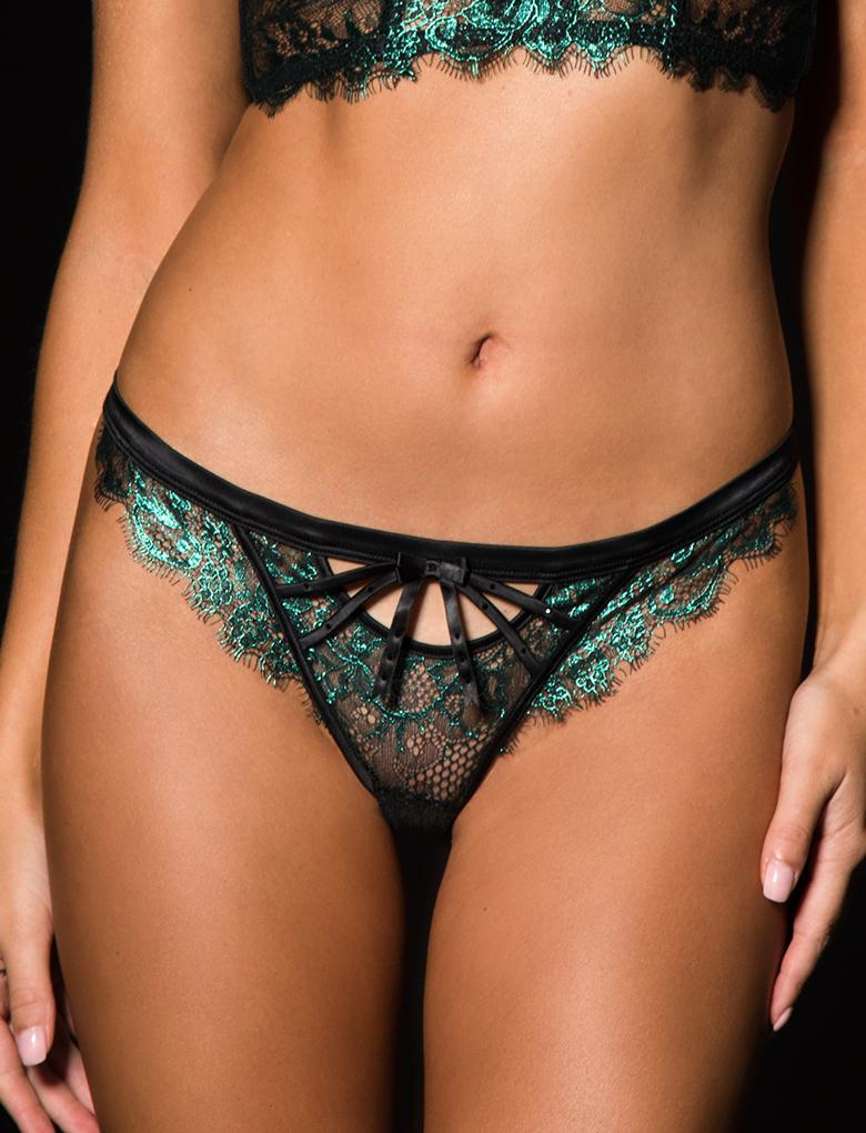 Madame Emerald Lace G String - Shop Lingerie | Honey Birdette