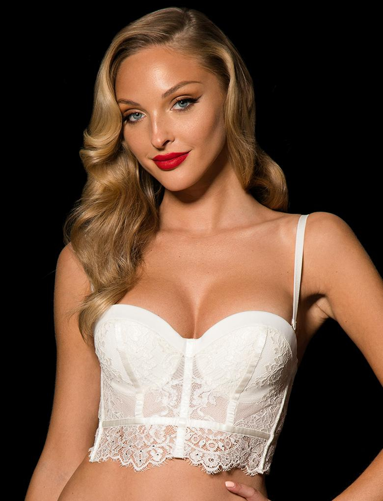 Maria Ivory Lace Push Up Bra