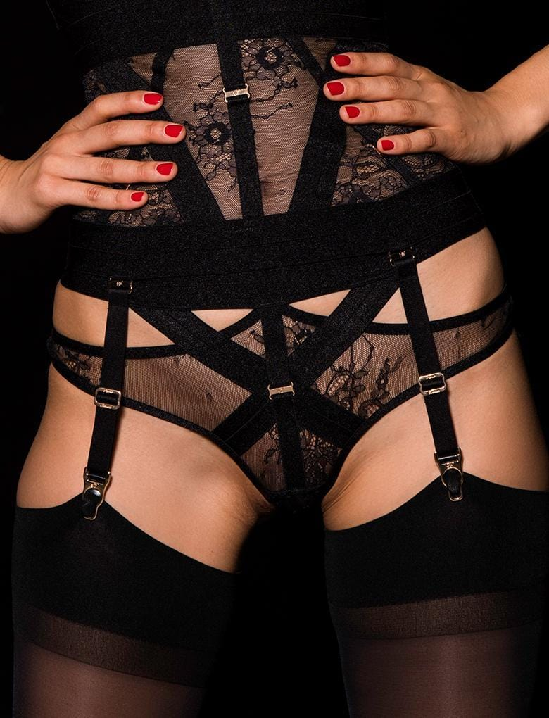 Renee Garter Belt - Shop Lingerie | Honey Birdette