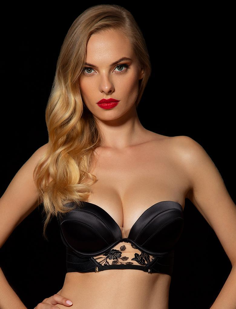 Sara Black Push Up Bra - Shop Lingerie | Honey Birdette