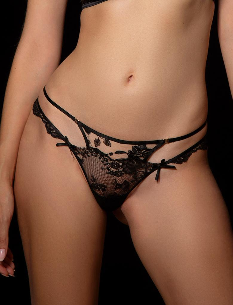 Sienna Lace Thong - Shop Lingerie | Honey Birdette