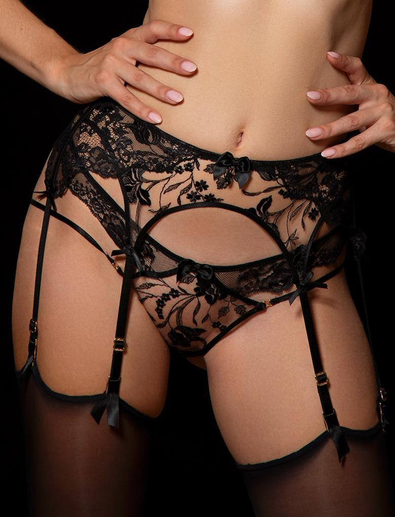 Sienna Suspender - Shop Lingerie | Honey Birdette
