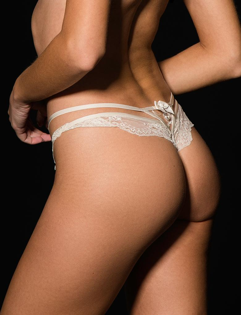Sienna Lace Ivory Thong - Shop Lingerie | Honey Birdette