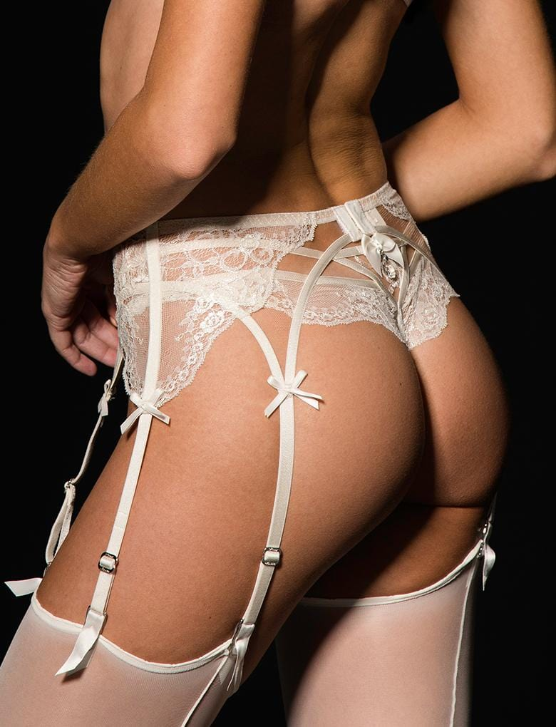 Sienna Ivory Suspender - Shop Lingerie | Honey Birdette