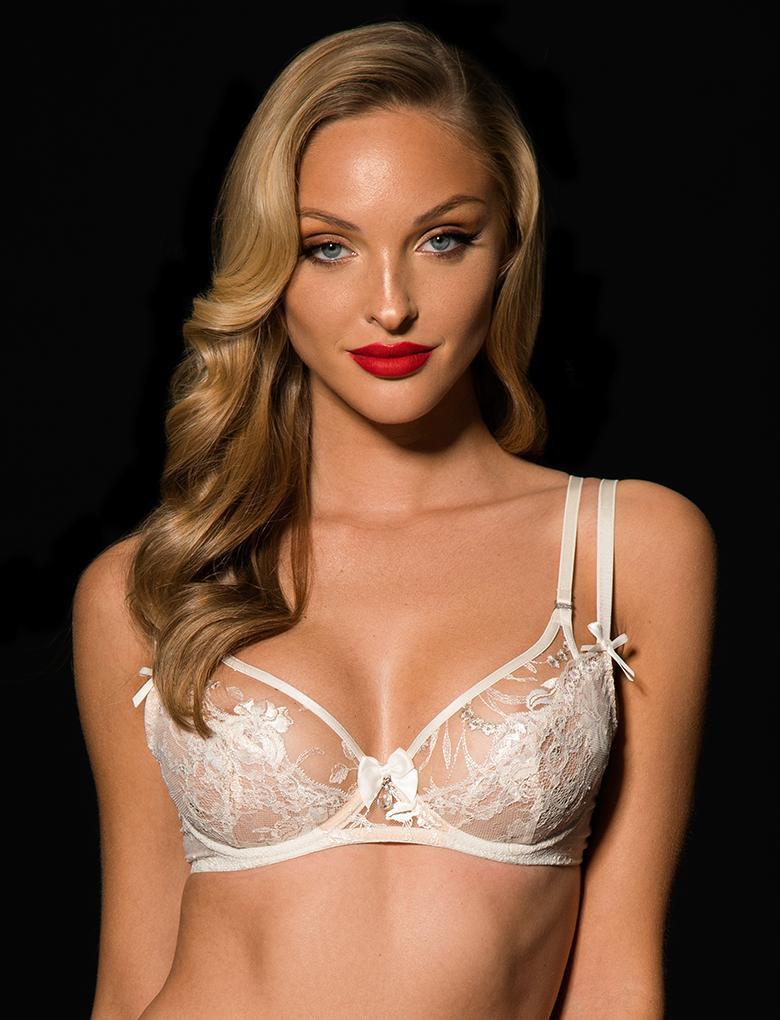 Sienna Lace Ivroy Underwire Bra - Shop Lingerie | Honey Birdette