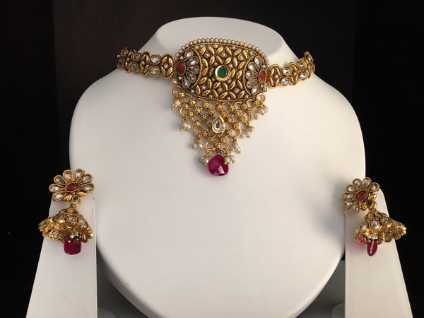 Traditional Indian Choker Necklace