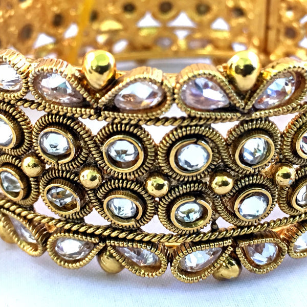 Kundan studded Gold Bangle Kada