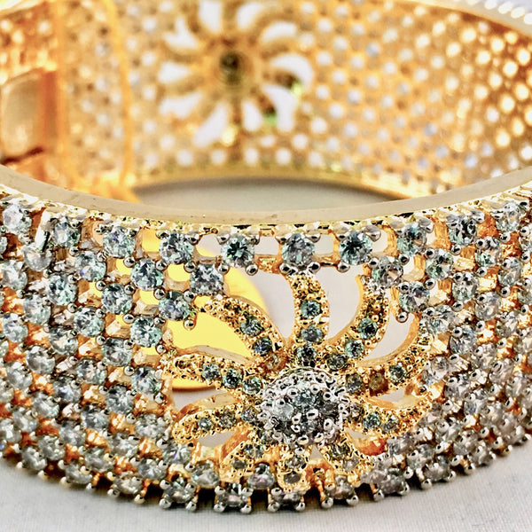 White American Diamond Bangle
