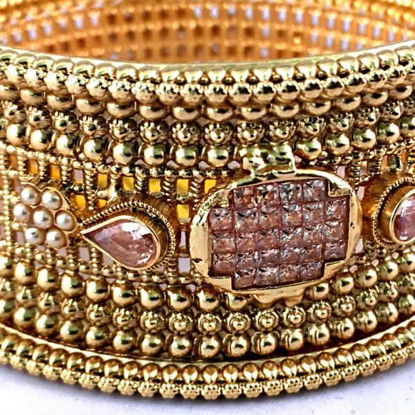 Gold Bangle with LCT Stones