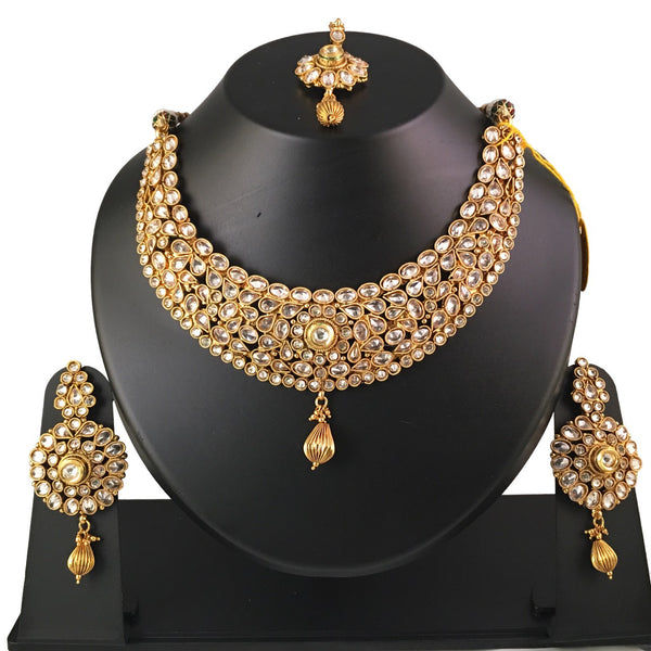 Gold & Kundan Necklace Set