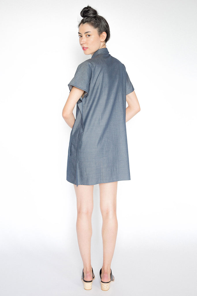 Blue Denim Shirt Dress A.Oei