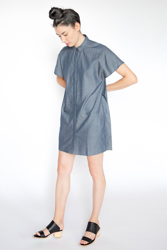 Blue Shirt Dress A.Oei