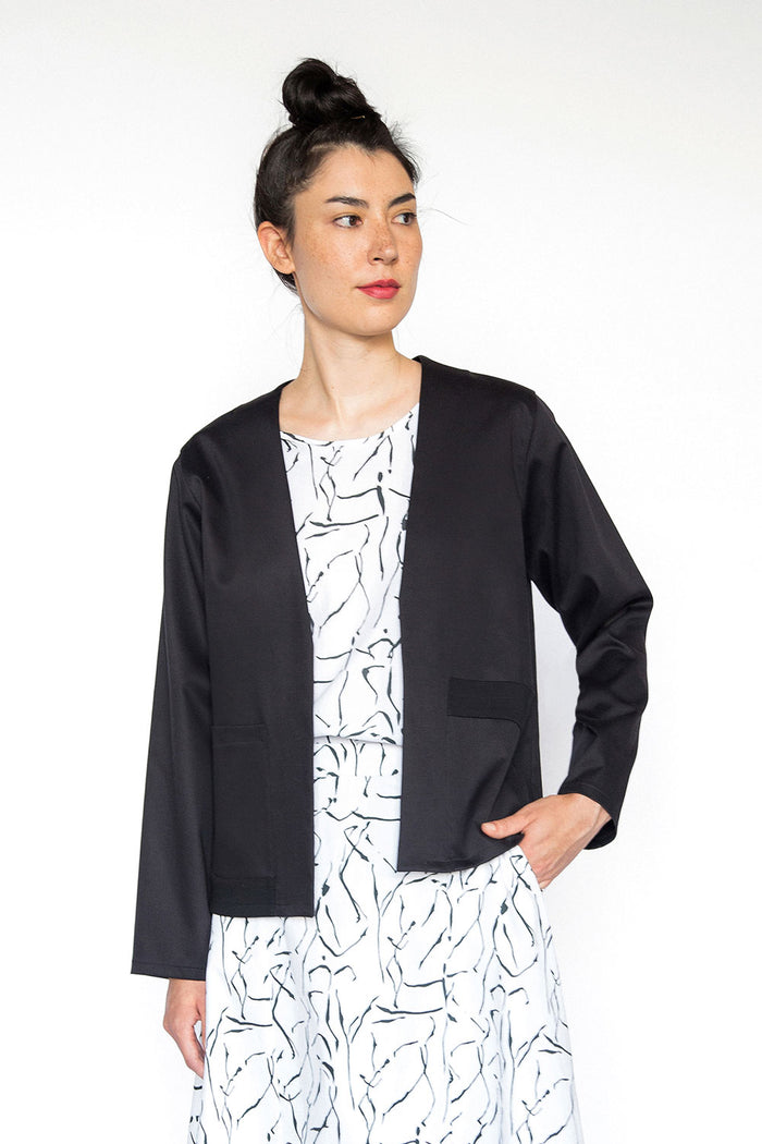 Summer cotton black jacket A.Oei