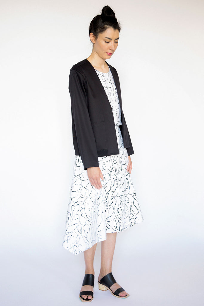 Black tailored cotton jacket A.Oei