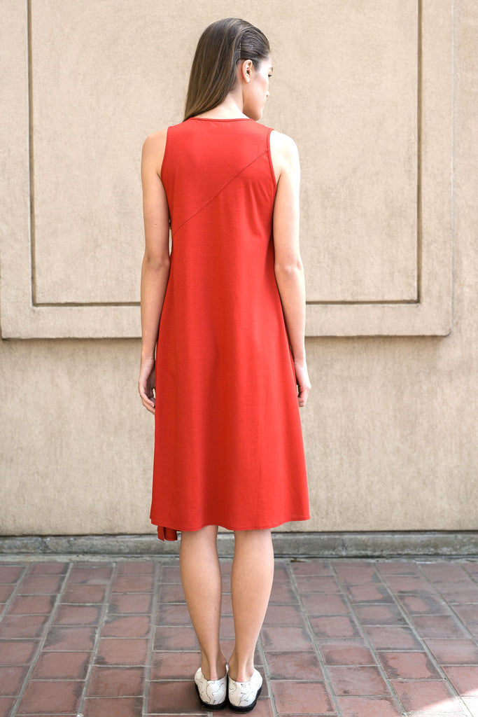 Red Cotton Jersey Dress A.Oei Studio