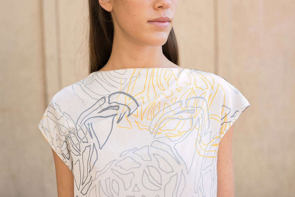 botanical print silk t-shirt by A.Oei Studio