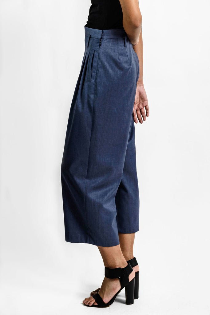 Wool silk tailored women's pants A.Oei Studio