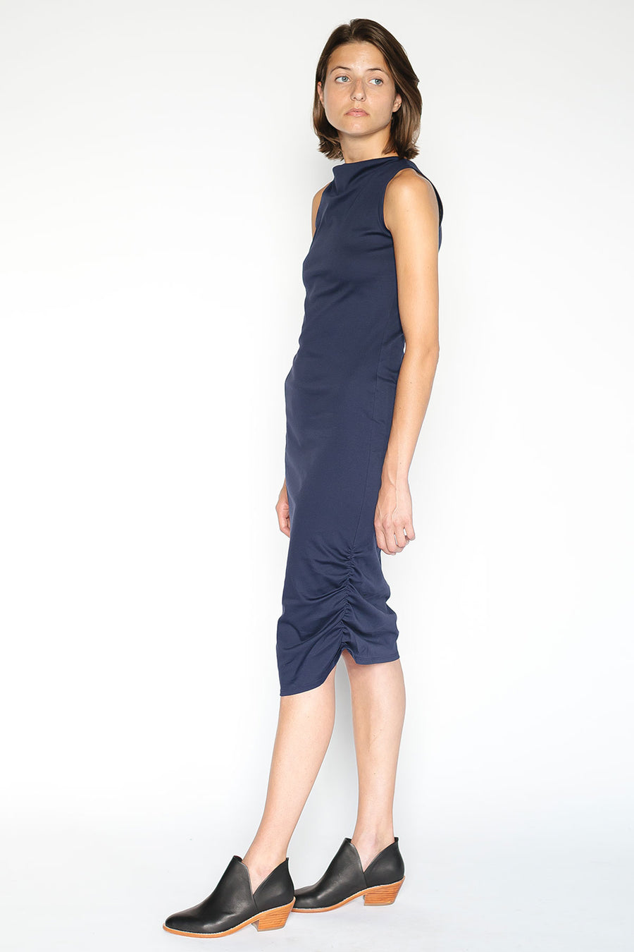 Slim fit navy Dress