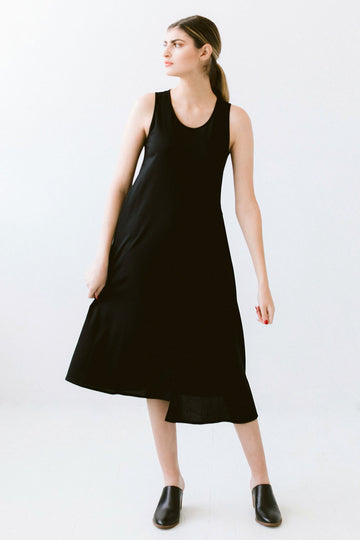 Black sleeveless midi dress Seattle