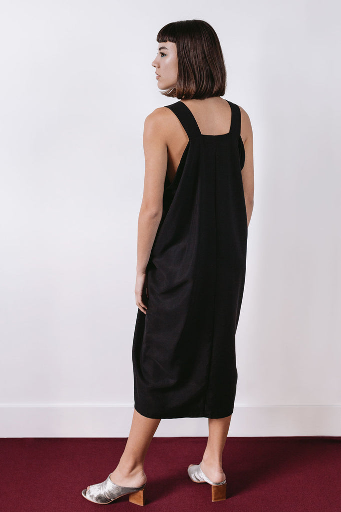 Black midi dress by A.Oei Studio