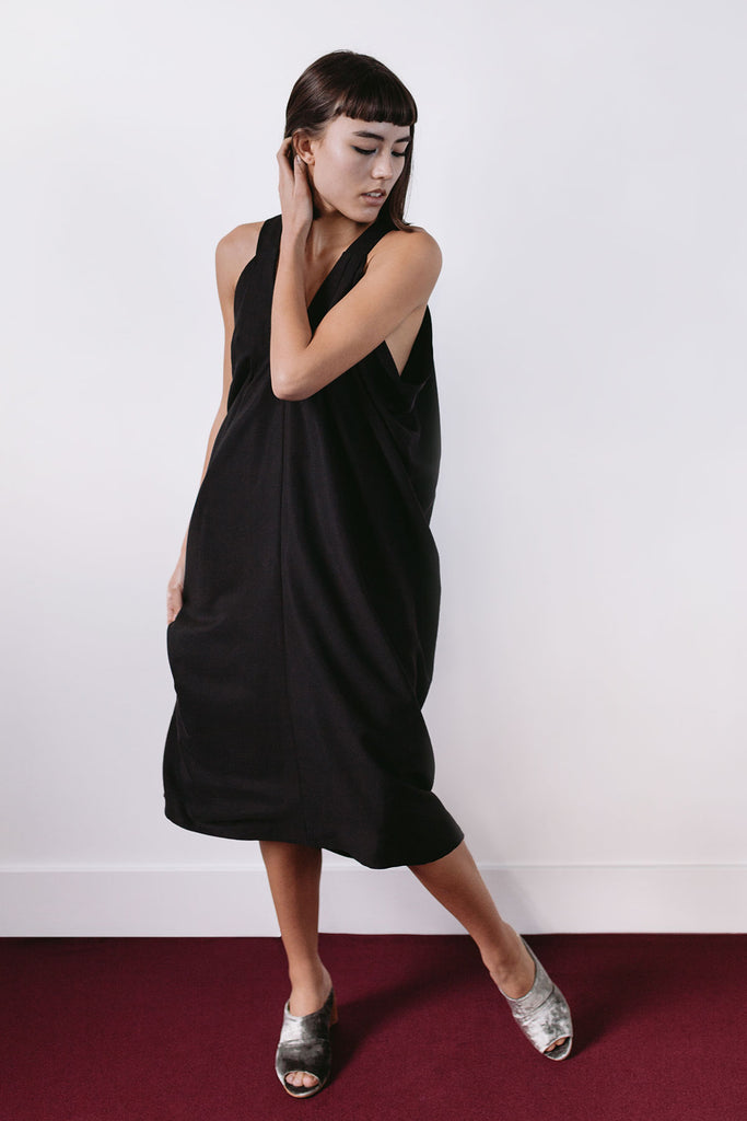 Evening black dress by A.Oei Studio