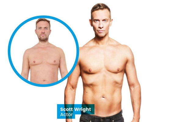 Ex-Coronation Street star Scott Wright shows off his amazing body transformation - achieved in just 12 weeks