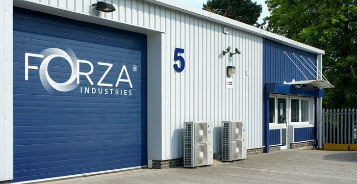 Forza industries garage door to production facility