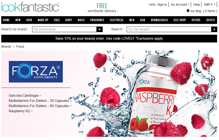 Forza supplement raspberry k2 pills online shopping