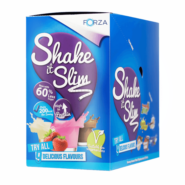 FORZA Shake it Slim Meal Replacement Shakes - 60% less sugar (10 pack)
