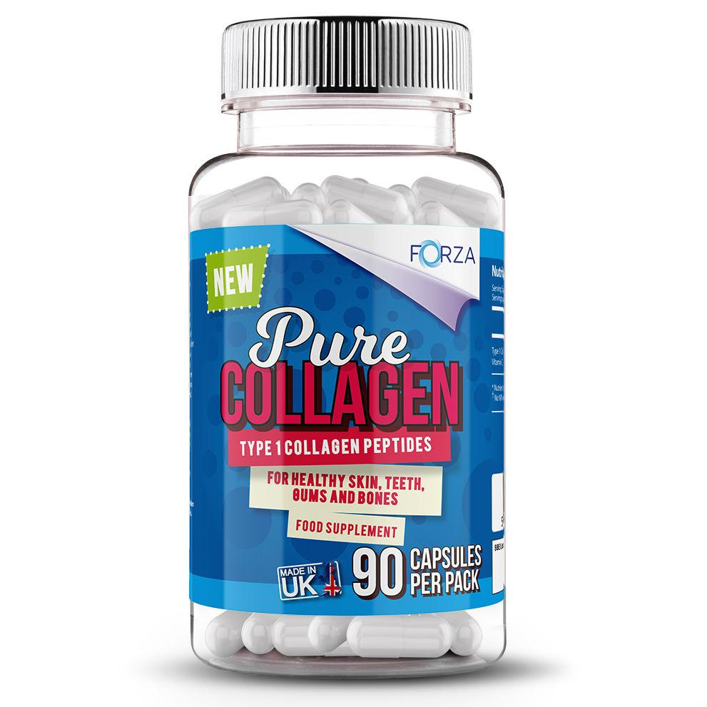 FORZA Pure Collagen - Skincare Supplements - 90 Capsules