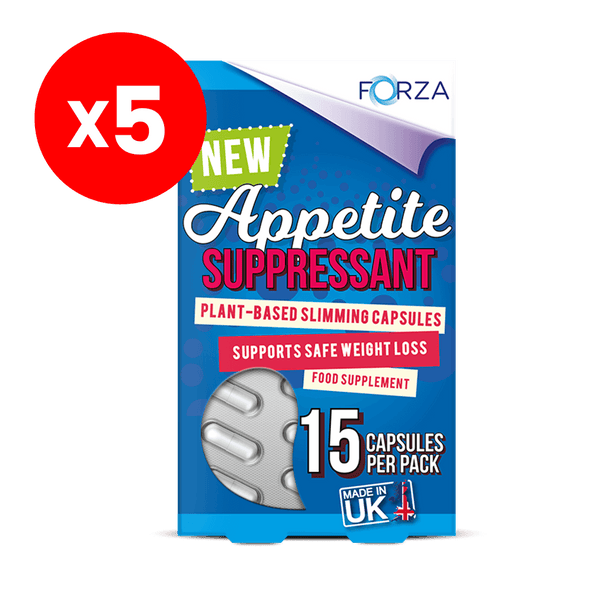 FORZA Appetite Suppressant 15 Capsules - Bundle of 5