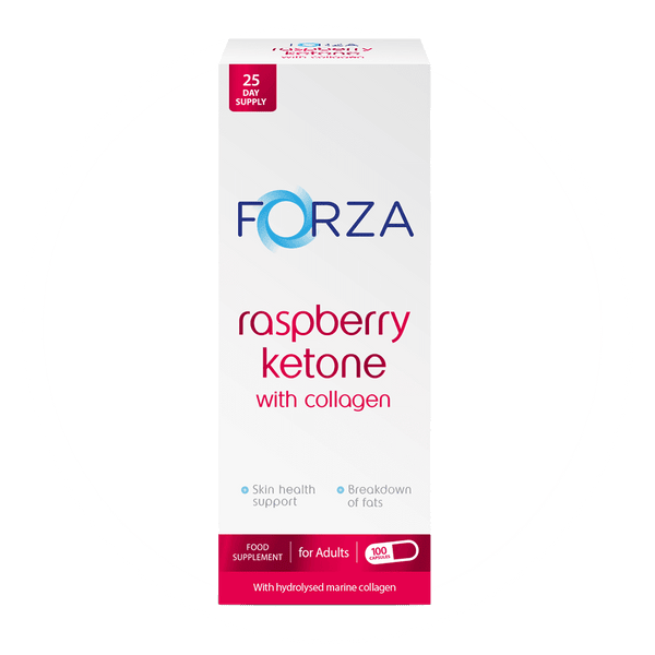 FORZA Raspberry Ketone with Collagen 100 Capsules