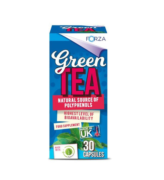 FORZA Green Tea With Phytofare® 30 Capsules - BBE 02/21