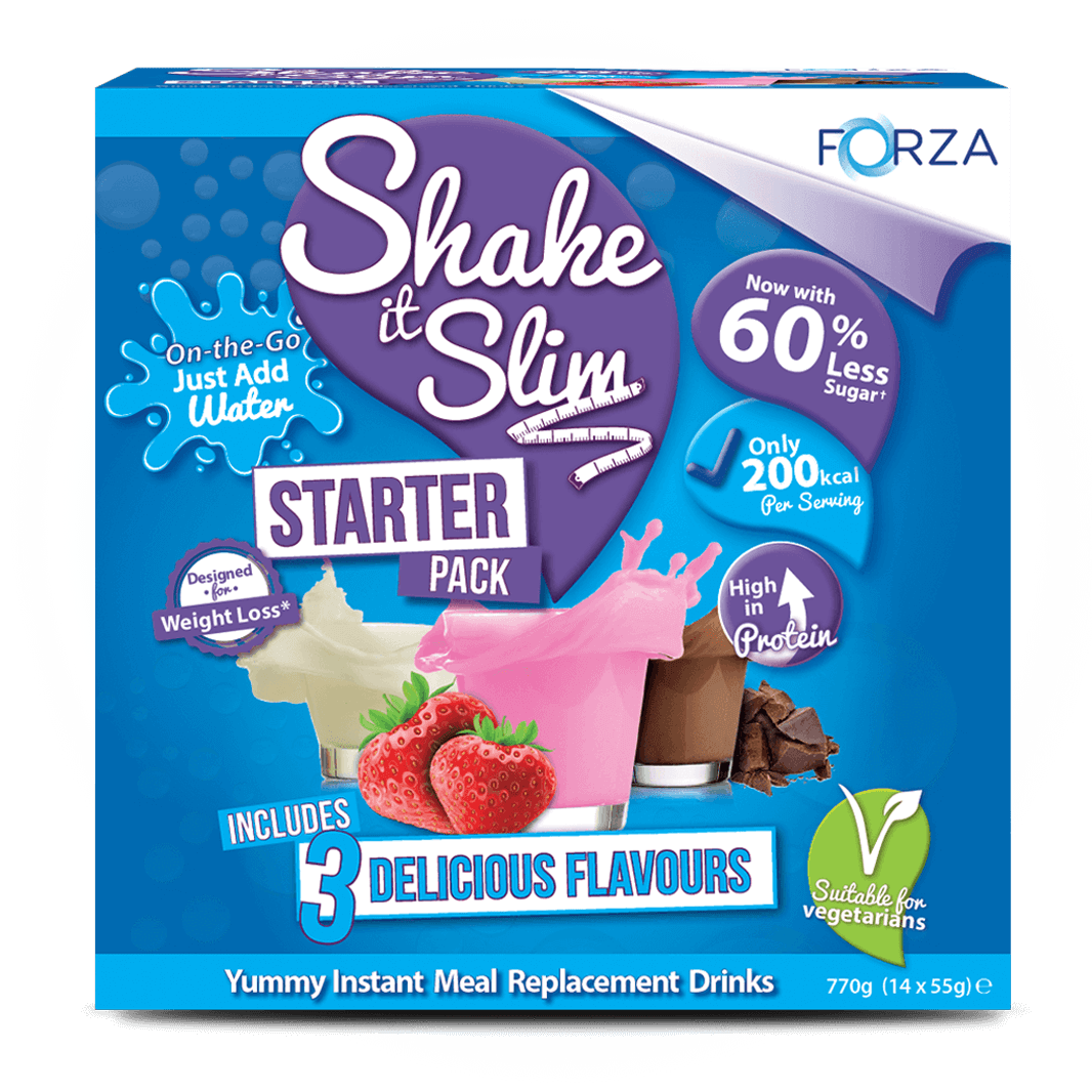 New! FORZA Shake It Slim Starter Pack - Meal Replacement Shakes