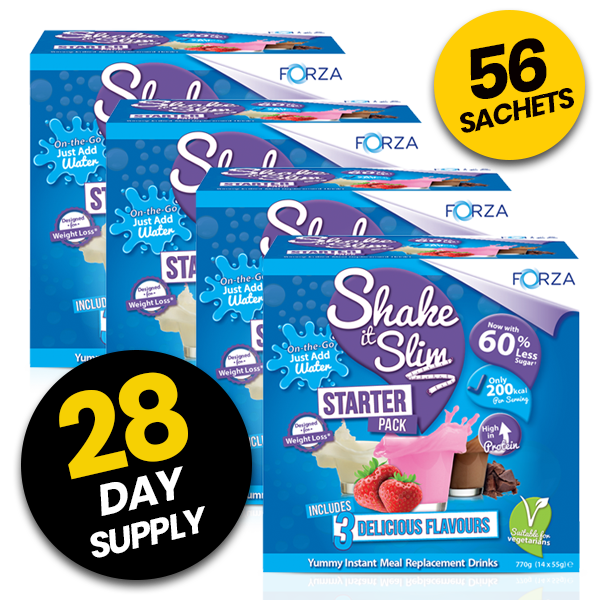 FORZA Shake It Slim Starter Pack - Meal Replacement Shakes - 28 Day Supply