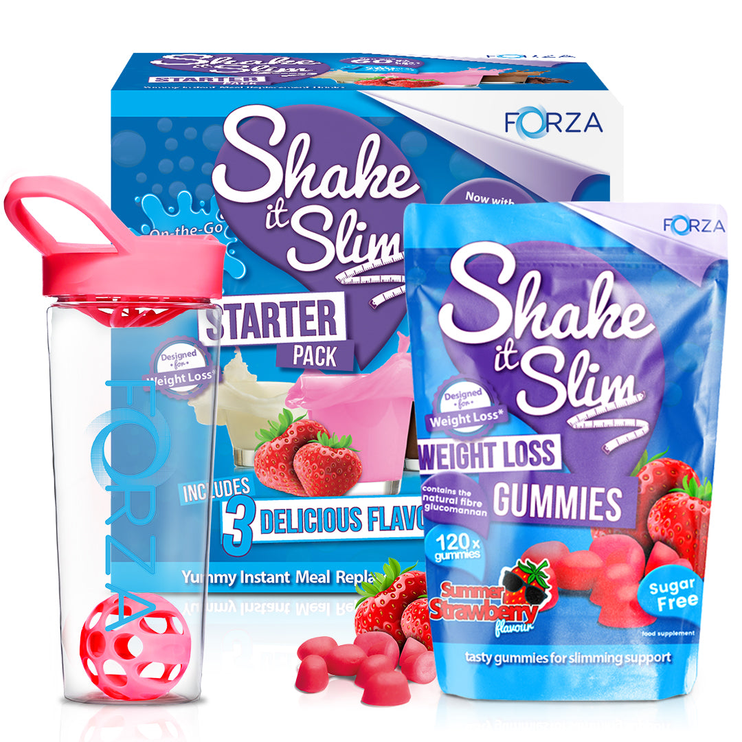 Shake It Slim Starter Kit & Weight Loss Gummies Bundle