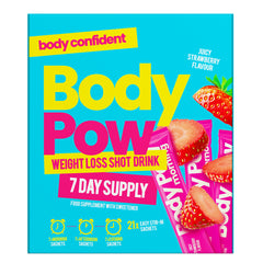 Body Pow Weight Loss Shot Drink Strawberry