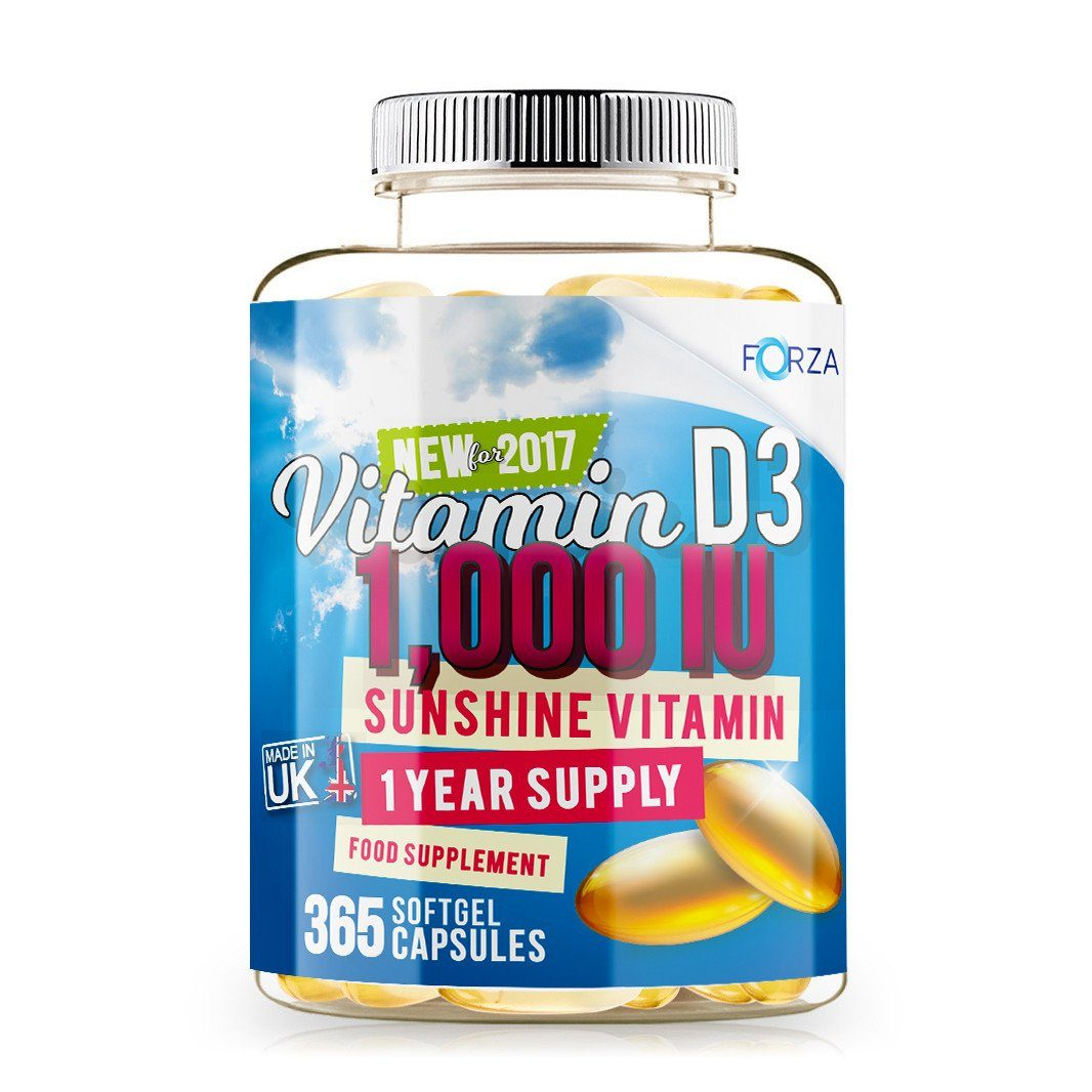 FORZA Vitamin D3 Supplement - 365 Softgels - FORZA Supplements