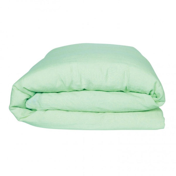 SPRAY MINT LINEN QUILT COVER - KING