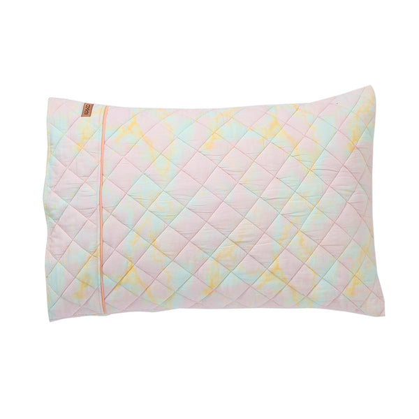 Kip & Co Marbling Lilac Quilted Cotton Pillowcase