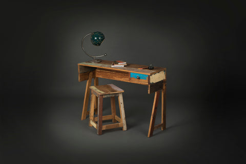 Single Drawer Reclaimed Wood Study Desk