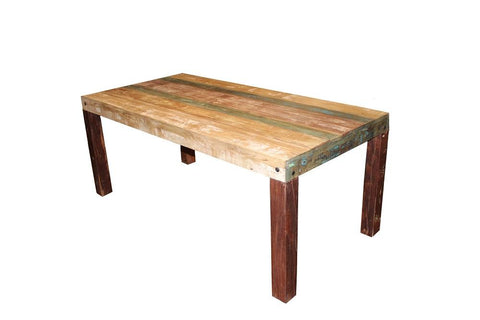 Silver sand reclaimed wood dining table