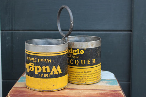 Recycled Metal 2 Pot Containers