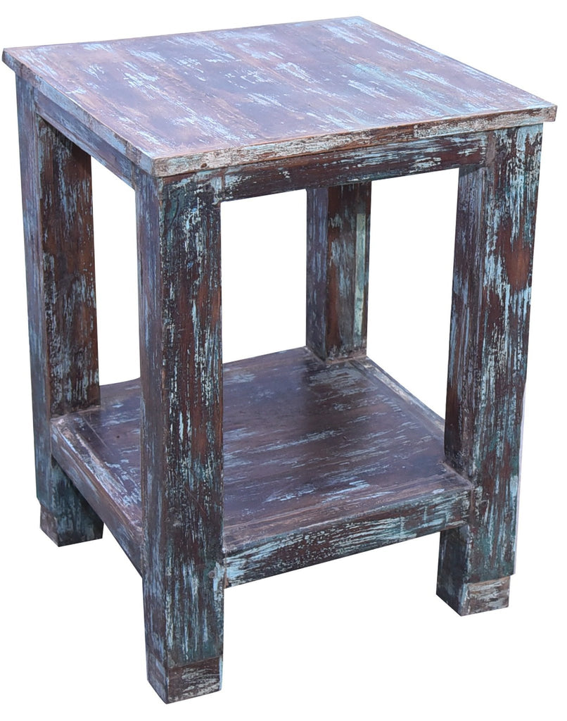 Square Reclaimed Wood Side Console Table - HomeStreetHome.ie