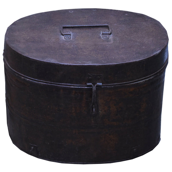 Oval Metal Box rusted Finish - HomeStreetHome.ie