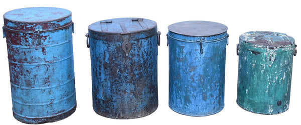 Iron Container with Lid - HomeStreetHome.ie