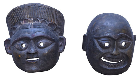 Handcarved Antique Wooden Tribal Mask - HomeStreetHome.ie