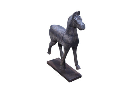 Large Wooden Horse on Stand - HomeStreetHome.ie
