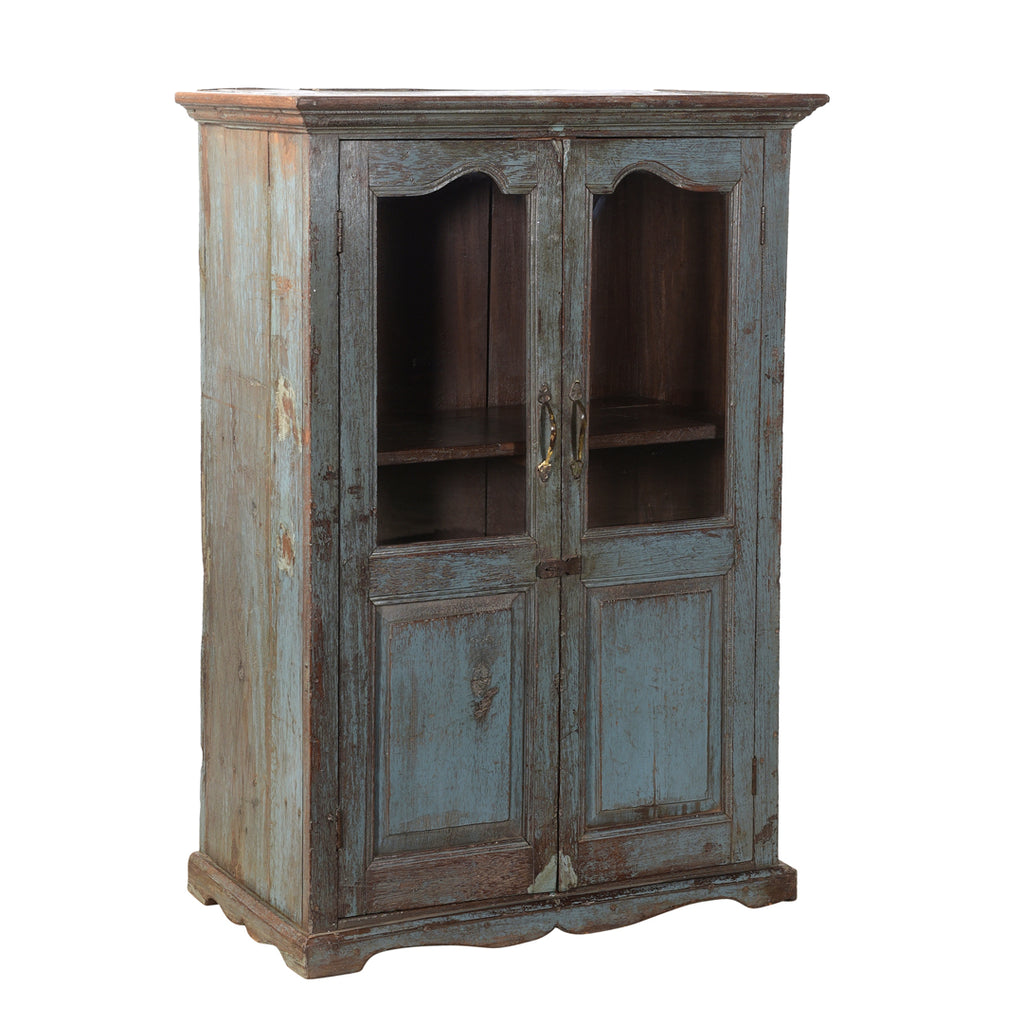 Astragal Blue Glass Cabinet
